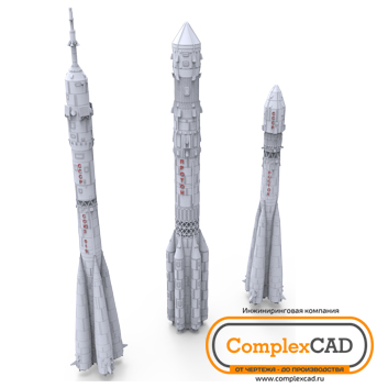 "Development of 3D models of souvenir missiles ""Baikonur"""